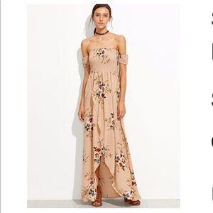 Dresses & Skirts - Feminine off the shoulder floral print dress